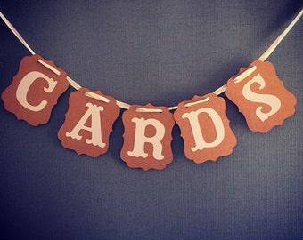 Cards bunting/vintage wedding accessories