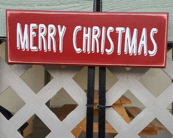 "Custom ""merry Christmas"" sign"