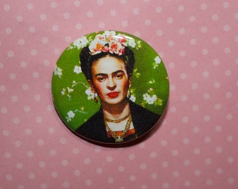 Frida Kahlo,Frida pin back 1.25 in Frida Kahlo Pin Frida Kahlo Birthday Christmas Gift Hand Drawn Illustration Pin Fan Art Frida badge