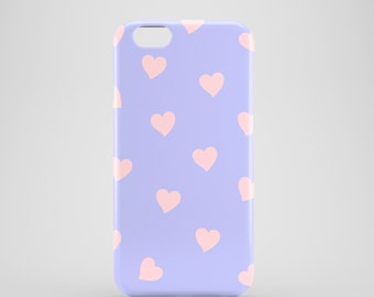 Lilac blue Hearts case / serenity phone case / valentines phone case / iPhone and Samsung Galaxy cases