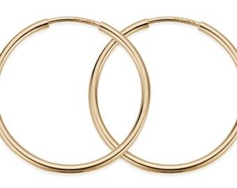 1 Pair, 2 Pcs 40 mm 14K Gold Filled Hoop Earrings (GF4003806)