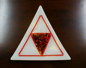 Triangular dish