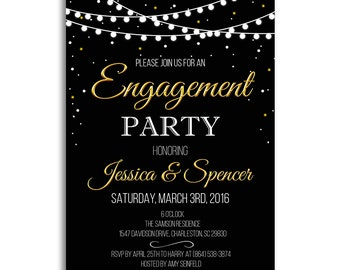 engagement invites etsy - Engagement Party Invite