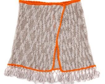 Sun Beach clothing. Knitted beach accessories, pareo, swimwear, women's swimsuit. Summer trends.