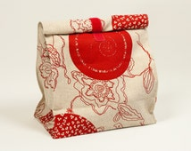 Lunch bag. Waterproof fabric inside. Lunch containers. Food bag. Lunch box.