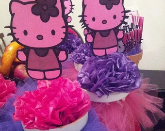 Hello Kitty inspired centerpieces