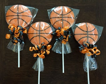 Basketball Chocolate Lollipop