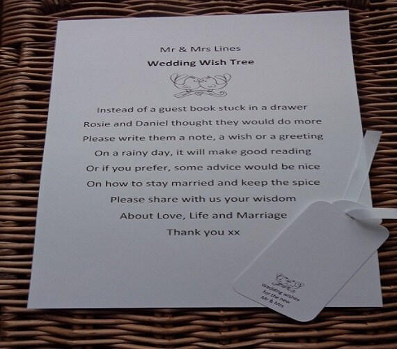 Wishing Tree Guest Book Sign Wedding Wish Poem