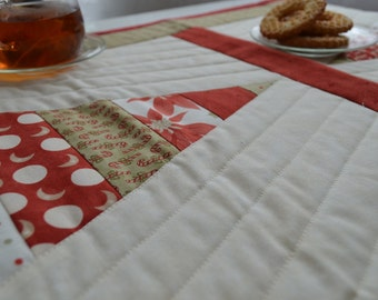 Patchwork Christmas Tree Table Runner