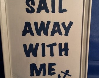 A4 Framed Sailcloth Picture
