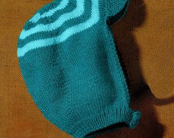 PATTERN, child's knitted hat pattern, knit beanie pattern, vintage knitting pattern, child's knitted hat pattern, 2 - 7 years