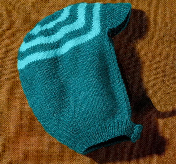 PATTERN childs knitted hat pattern knit beanie pattern