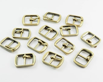 20 pieces - 12 x 18 mm Antique Brass Buckle Shoes Bag Making Supplies, Metal Buckle Connector - SRR.20