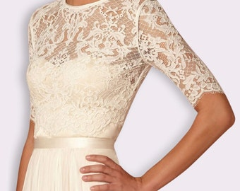 Bridal lace top/ shrug/ jacket