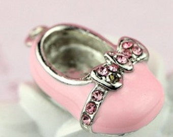 Pink Baby Shoe Pendant Charm