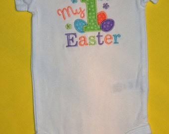 First Easter Onesie, 1st Easter Onesie, Short Sleeve Onesie
