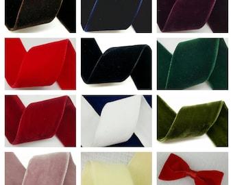 "Double Face Nylvalour Swiss Velvet Nylon Ribbon, 1.5""-Inch Selling Per Yard"
