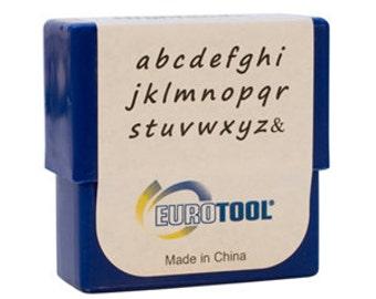 Highlands Alphabet Stamp Set, Lower Case, 2mm, 27 Piece Set | PUN-720.00