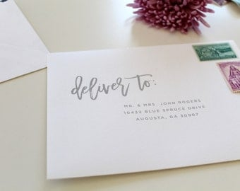 Calligraphy Wedding Envelope Printing | Calligraphy Envelope Printing, Script Envelope Addressing, Envelope, Wedding Envelope Addressing