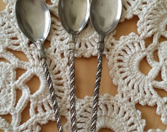 Latvian style (soviet time) tea, coffee spoons 1980s.