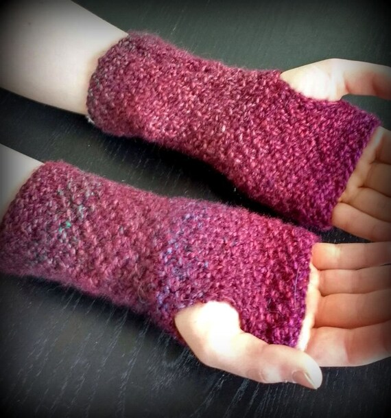 Instant Download PDF Knitting Pattern, Marble Effect Wrist ...