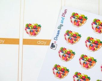 Fruit Salad Bowl Planner Stickers! DBP48