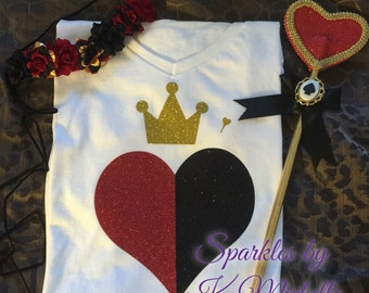 Kids Size Queen Of Hearts Inspired Shirt