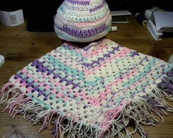 Crochet Poncho and Hat