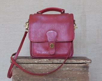 coachbycoach / red coach bag / genuine leather coach bag / cross body bag / red handbag / coach handbag / cross body coach bag / cherry bag