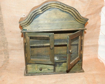 Primitive Stained Vintage Style Shadow Box