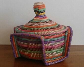 CYBER MONDAY -15%!!! African zulu Palm leaf basket