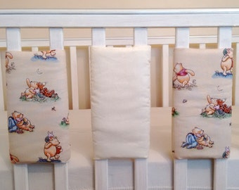 Vintage Winnie the pooh baby cot bar bumpers