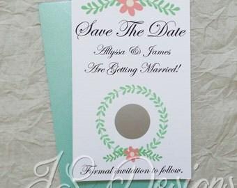 Scratch Off Save The Date Invitations x 10 pack