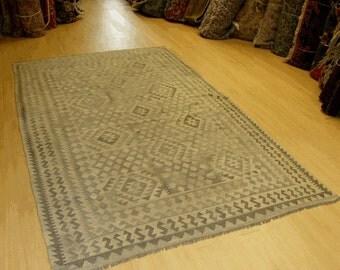 Handmade Afghan Undyed Kilim 321 cm x 200 cm (14326)