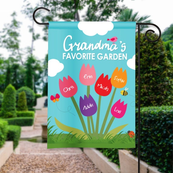 Grandmas Favorites Grandmother Garden Mothers Day Personalized