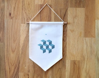 """FLAG of cotton """"printed vasarely"""""""