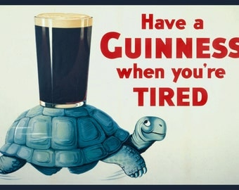 Guinness, Vintage  Ad , Metal Sign,  No.605