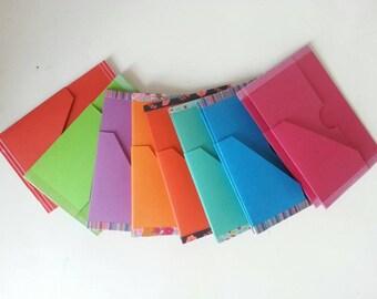 Folder shirt cardboard / Insert 6 pockets Field Notes for fauxdori, journal of the traveller