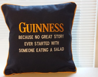 Embroidered Guinness Pillow