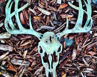 Handmade Metal Art- Deer Skull