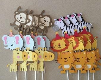 Jungle/Safari Cupcake Toppers
