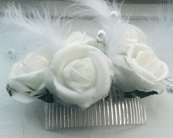 Stunning custom made Bridal flower fascinators!!