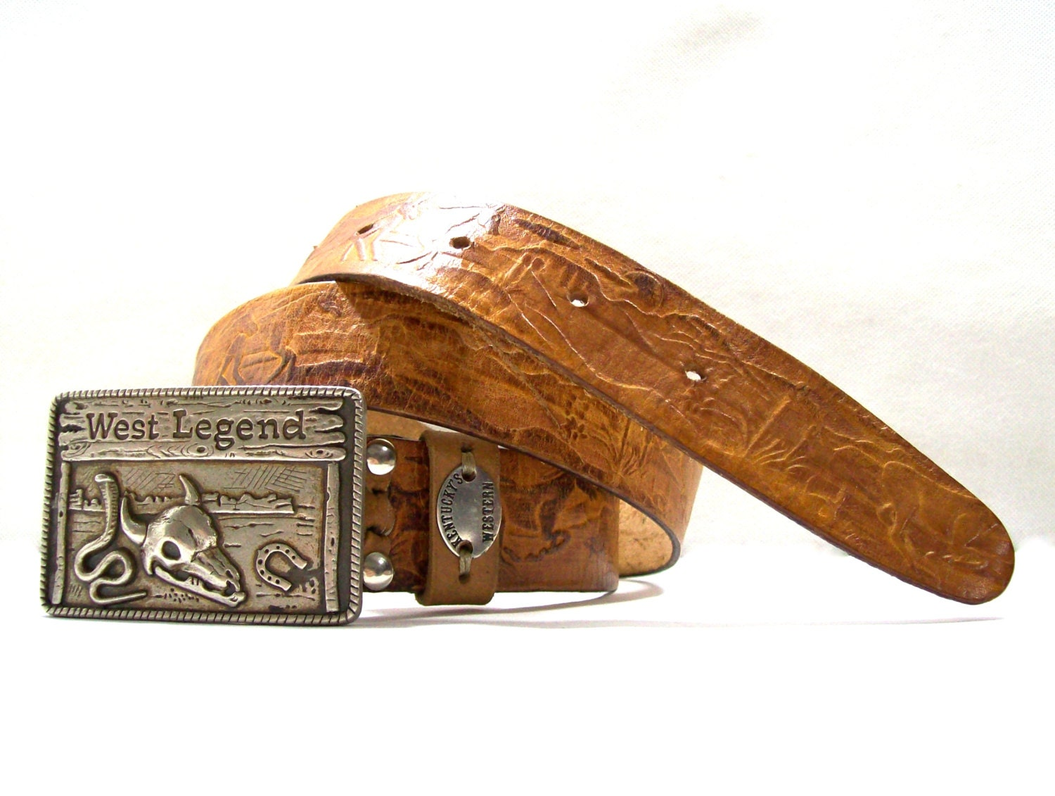 brown leather belt cowboy leather belt motorcycle leather