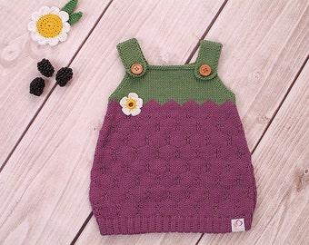 Baby dress knitting dress BlackBerry