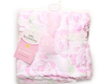 ROSES sculptured Baby Blanket