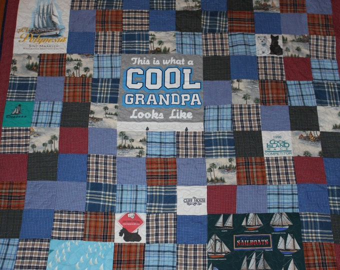 Memory Quilt, Memory Blanket, Personalized quilt, Memory Keepsake, Tshirt quilt,Memory blanket, Memory quilt from Mom's clothing
