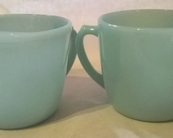 Vintage Anchor and Hocking Fire King Creamer Set, Azurite, Ice Blue