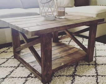 Farmhouse Coffee Table / Entryway Table