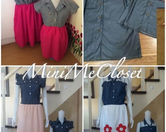 Matching Mother and Daughter Dress Soft Jeans