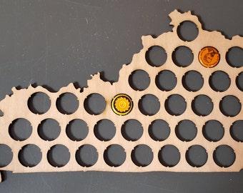 State of Kentucky Bottle Cap Holder